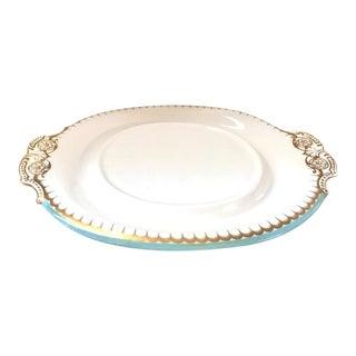 Antique Copeland White Oval Porcelain Platter For Sale