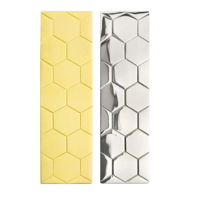 Contemporary Honeycomb Pull - Satin Brass For Sale - Image 3 of 4