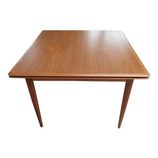 Mid Century Danish Refinished Extending Teak Dining Table by Moreddi For Sale