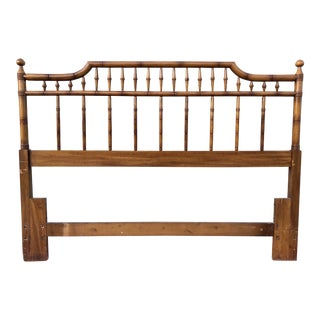 Faux Bamboo Pagoda Fretwork Queen Sized Headboard
