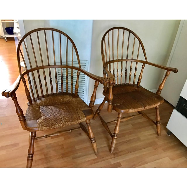 1920 Barnard & Simonds Rochester NY Windsor Chairs - Set of 4 For Sale - Image 5 of 11