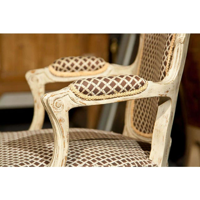 French Louis XIV Style Fauteuils - Pair - Image 5 of 8