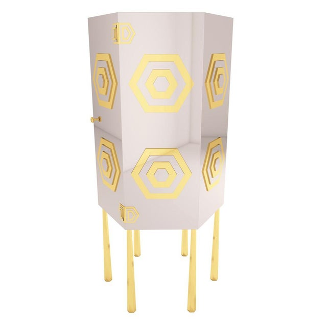 Troy Smith Designs Hex Cabinet by Artist Troy Smith - Contemporary Modern Design - Handmade Furniture - Very Limited Edition For Sale - Image 4 of 11