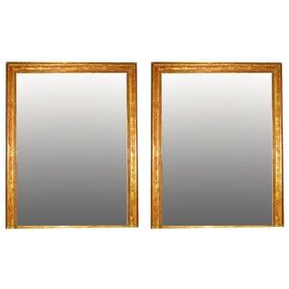 Monumental Louis Phillipe Gilt Mirrors C.1850, Pair For Sale