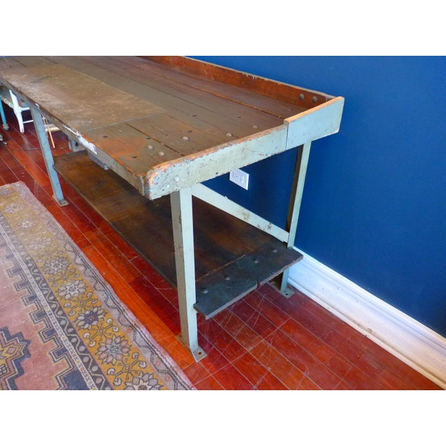 1940s Industrial, Old Welders Workbench For Sale - Image 5 of 13