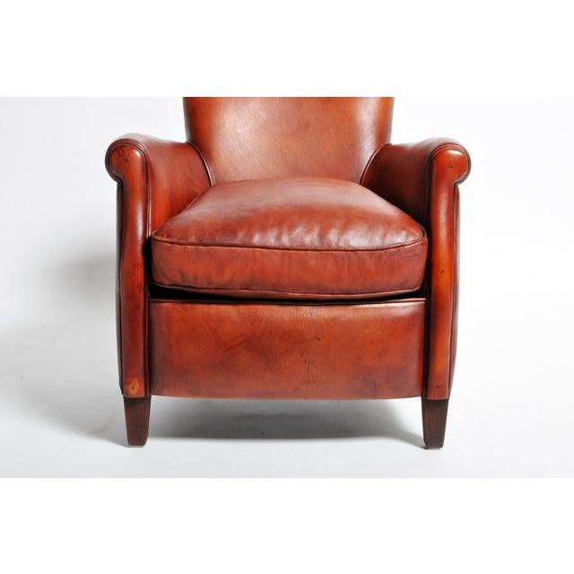 French Leather Armchairs - a Pair For Sale - Image 10 of 13