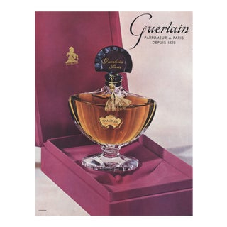 Matted Mid-Century Advertising Print-Guerlain Shalimar For Sale