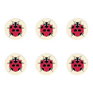 Lady Bird Coasters Set of 6 For Sale