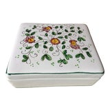 "Image of Vintage Italian Faience Hand-Painted Box-6""x 5"" For Sale"