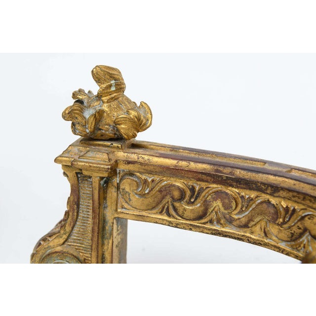 Louis XV Gilt Bronze Chenets - A Pair For Sale - Image 10 of 10