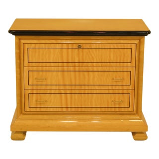 1990s Biedermeier Satinwood 3 Drawer Chest For Sale