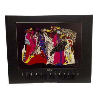 """1994 Limited Edition Signed """"Visions in Black"""" Second Born """"Najja"""" Poster by Frank Frazier For Sale"""