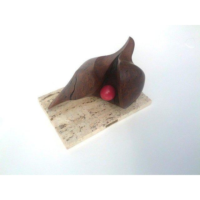 Wood Modernist Sculpture by Mary Gardner Preminger For Sale - Image 7 of 10