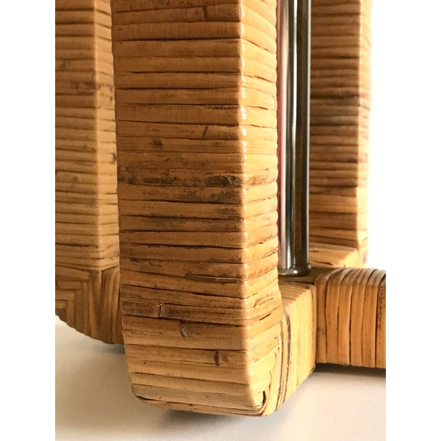 1970s Vintage Rattan Wrapped Table Lamp For Sale - Image 9 of 13
