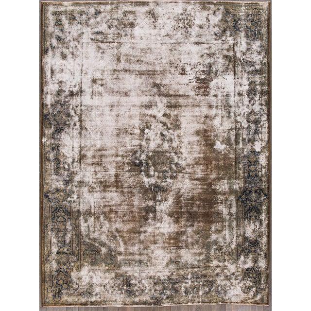 "Early 20th Century Apadana - Antique Persian Kerman Rug, 13'3"" X 10'0"" For Sale - Image 5 of 5"