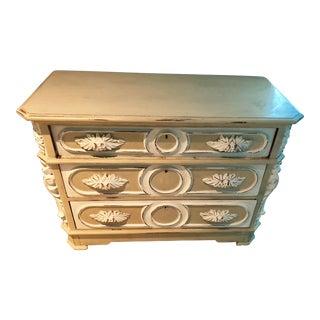 Antique Shabby Chic White and Beige Dresser