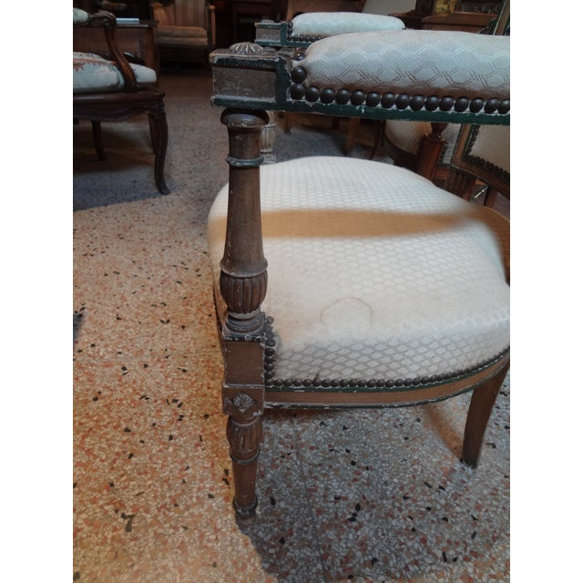 Pair of Directoire Period Fauteuils For Sale - Image 10 of 11