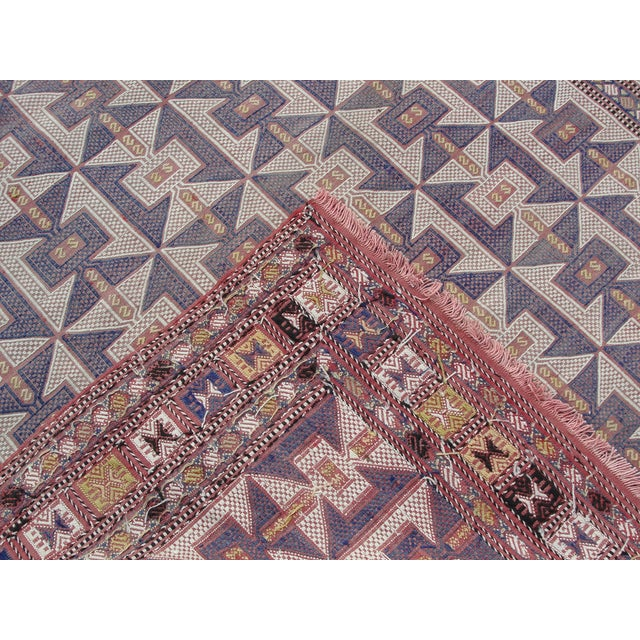 Vintage Turkish Kilim Rug - 6′5″ × 9′6″ - Image 11 of 11