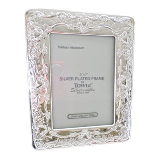 Towle Silverplate Wedding Flowers Silver Picture Frame For Sale