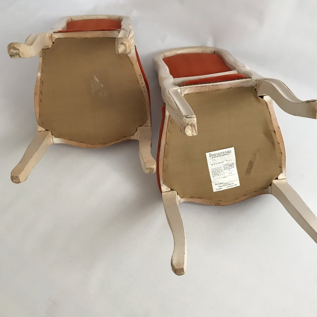 Lacquered Italian Hall Chairs - a Pair For Sale - Image 10 of 11