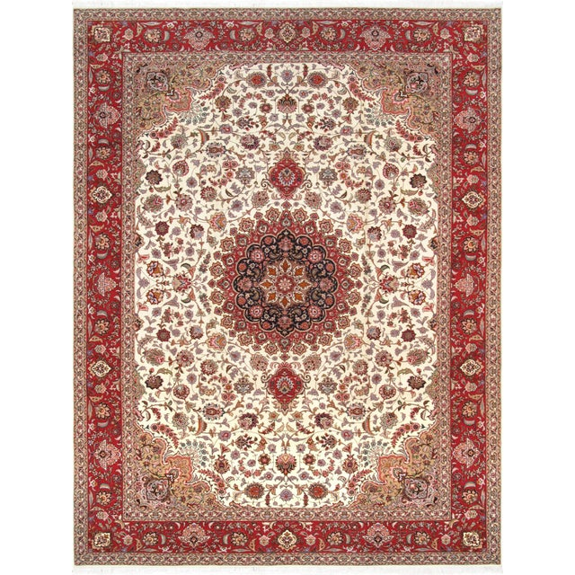 "Pasargad Persian Tabriz Silk & Wool Rug - 8' 3"" X 11' 6"" For Sale"