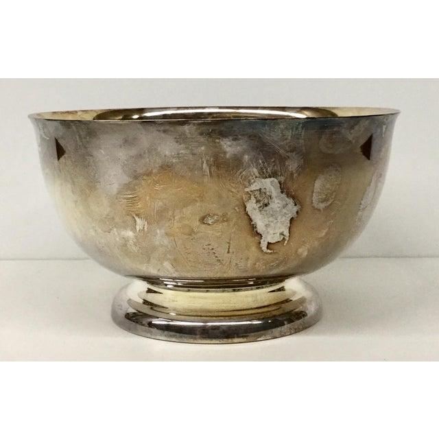 Art Deco 1970s Art Nouveau Sheffield Silver-Plated Revere Bowl For Sale - Image 3 of 13