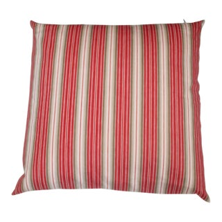 Deep Red background With White Stripes For Sale