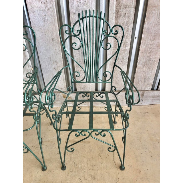 1960s Midcentury French Garden Chairs For Sale - Image 5 of 6