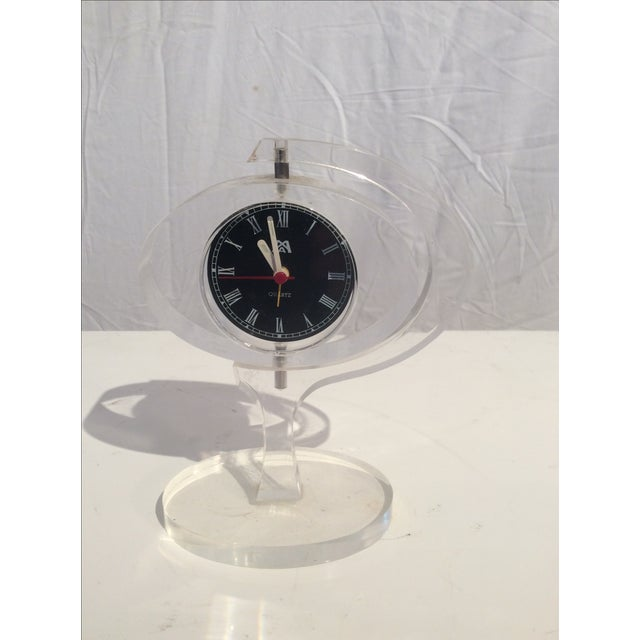 Mid-Century Modern Jetsons Lucite Alarm Clock - Image 2 of 4