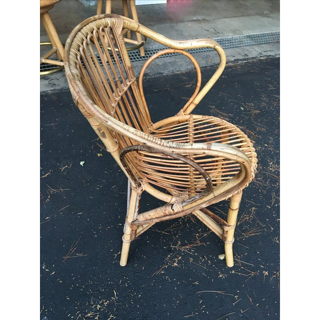 Bamboo Dining Chairs - Set of 4 - Image 6 of 9
