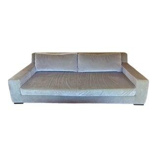Restoration Hardware Modena Track Arm Mohair Sofa For Sale