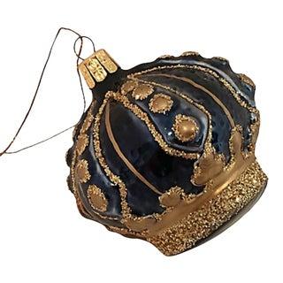 Royal Blue German Crown Ornament For Sale