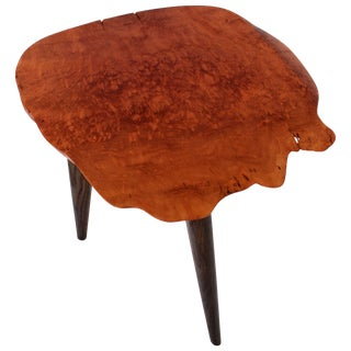 Unique Signed Sycamore Table by Jörg Pietschmann For Sale