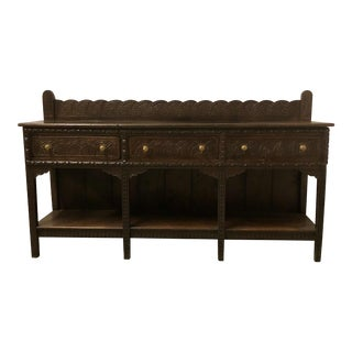 18th C. Carved English Oak Sideboard