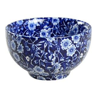 Staffordshire Calico Blue Small Bowl For Sale