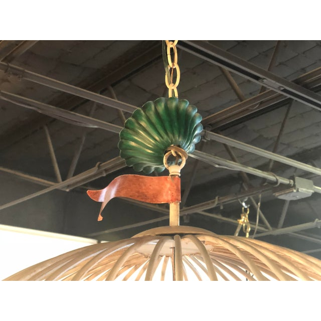 Vintage Italian Tole Metal Hot Air Balloon Chandelier For Sale - Image 9 of 13