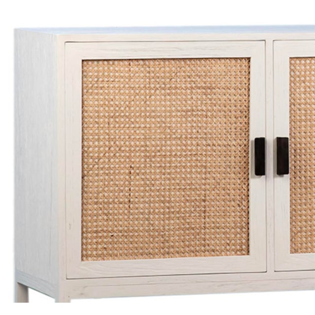 2020s Modern White Cane Sideboard For Sale - Image 5 of 5