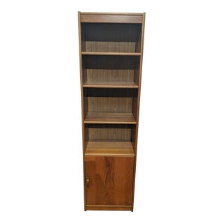 20th Century Scandinavian 3-Shelf Bookcase With Bottom Cabinet For Sale