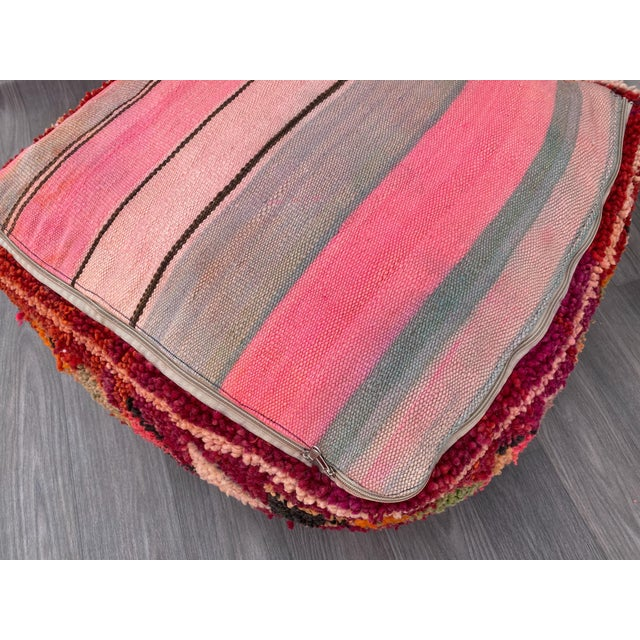 Textile 1980s Vintage Moroccan Pouf Cover For Sale - Image 7 of 10