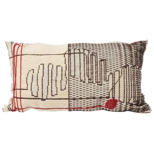 """Schumacher Artigianale Italian Handwoven Cactus Red 47"""" Oversized Floor Pillow For Sale"""