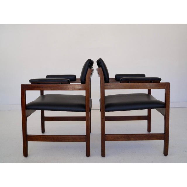 1960s Mid-Century Walnut Arm Chairs - a Pair For Sale - Image 5 of 11