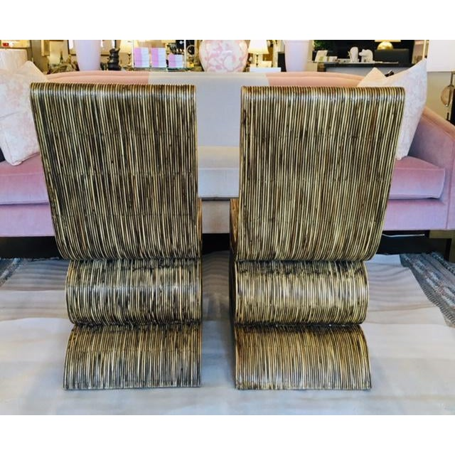Frank Gehry 1980s Reeded Rattan Snake Chairs - a Pair For Sale - Image 4 of 6