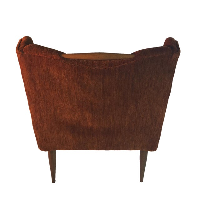 1960s Sculptural Midcentury Harvey Probber Slipper Lounge Chairs with Walnut Detail For Sale - Image 5 of 5
