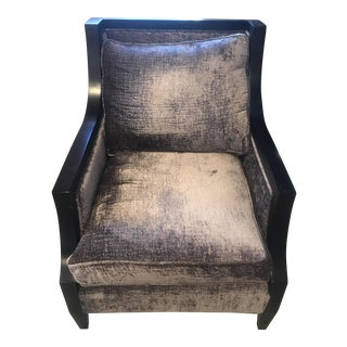 CR Laine Grayish Purple Mohair Armchair