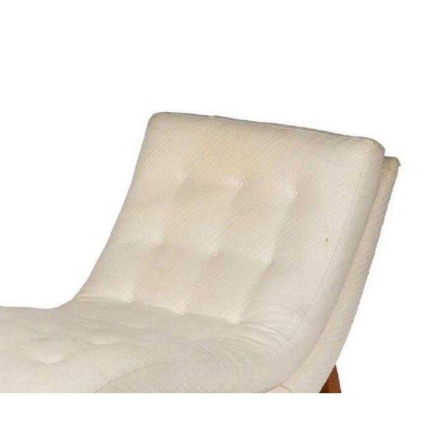 Adrian Pearsall Style Wave Lounge for Craft Associates. Rocking chaise lounge with walnut base and original fabric.