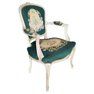 French Louis XV-Style Fauteuil For Sale
