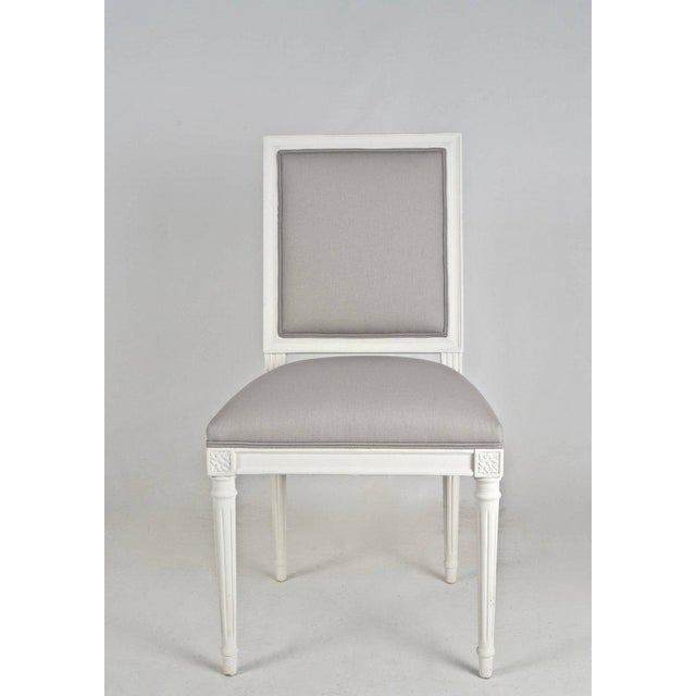 Louis XVI-Style Dining Chairs - Set of 8 - Image 5 of 8