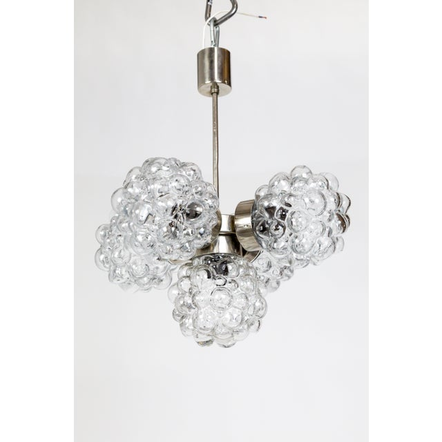 Transparent Bubble Glass Cluster Chandelier by Helena Tynell For Sale - Image 8 of 9