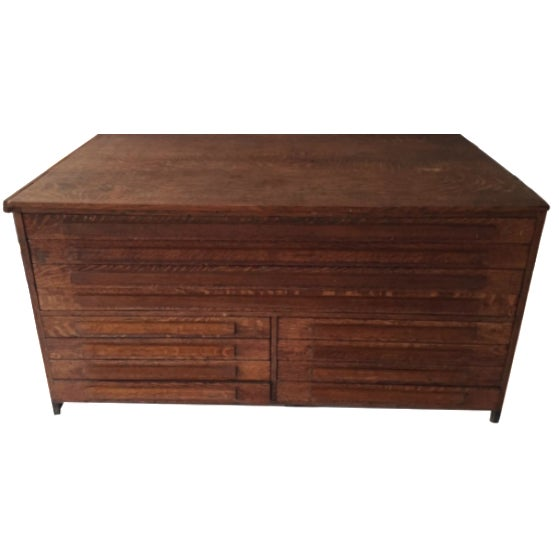 Antique Map Cabinet - Image 1 of 5