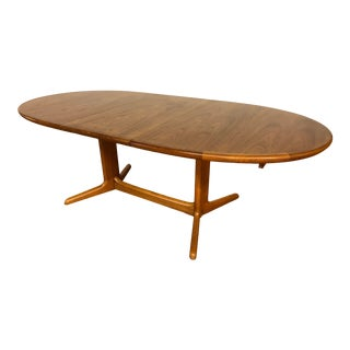 Mid-Century Oval Teak Dining Table With Two Leaves by Skovby - Made in Denmark For Sale